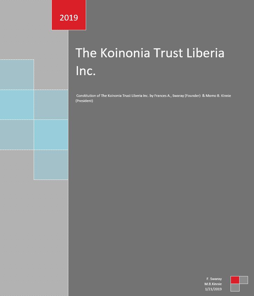 The Koinonia Trust Constitution